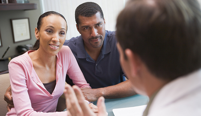 couple in counselling with doctor